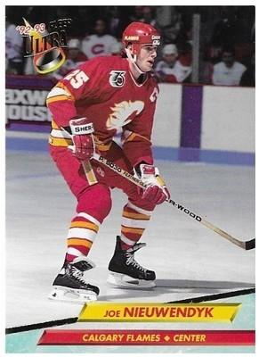 Nieuwendyk, Joe / Calgary Flames   Ultra #25   Hockey Trading Card   1992-93