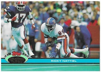 Nattiel, Ricky / Denver Broncos   Stadium Club #494   Football Trading Card   1991
