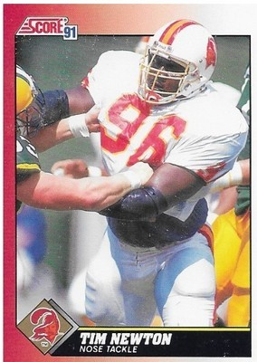 Newton, Tim / Tampa Bay Buccaneers | Score #119 | Football Trading Card | 1991 | Rookie Card