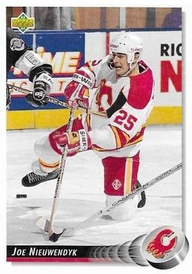 Nieuwendyk, Joe / Calgary Flames   Upper Deck #128   Hockey Trading Card   1992-93
