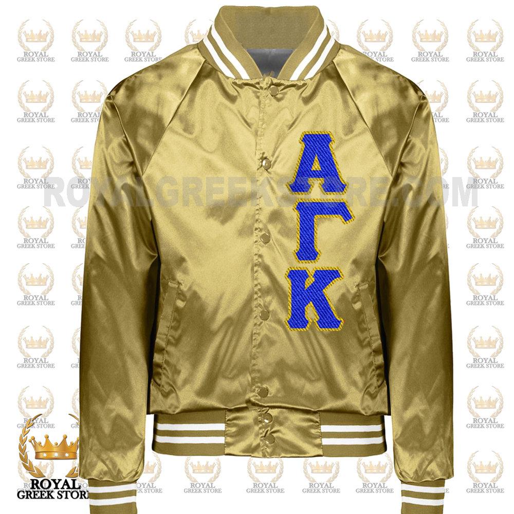 Custom Metallic Gold Satin Jacket