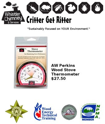 AW Perkins Wood Stove Thermometer