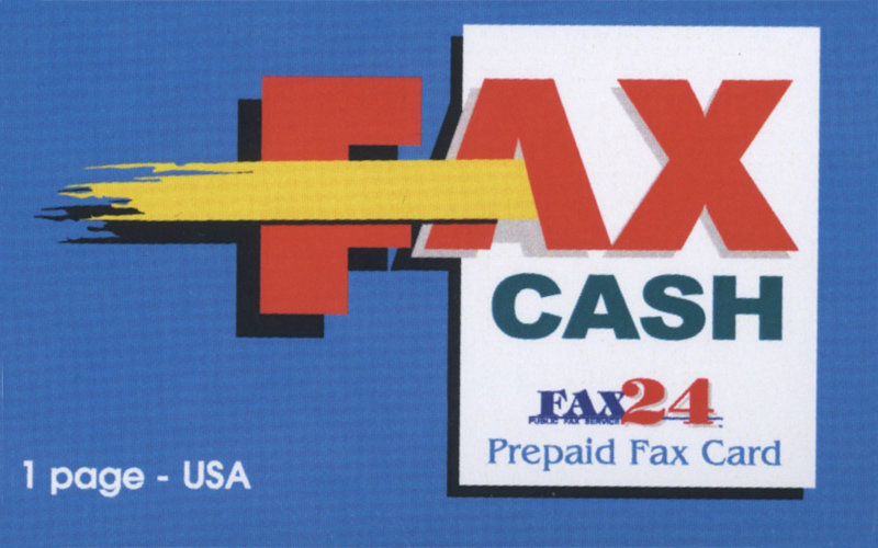 1 Page USA Fax Cash Card