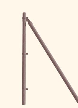 Postes arranque galvanizado de 2 m alto