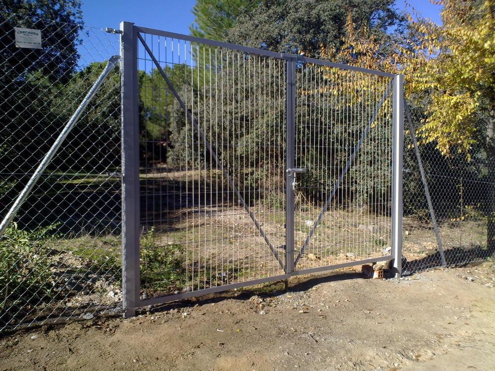 Puerta de doble hoja 5m por 1,50 de alto