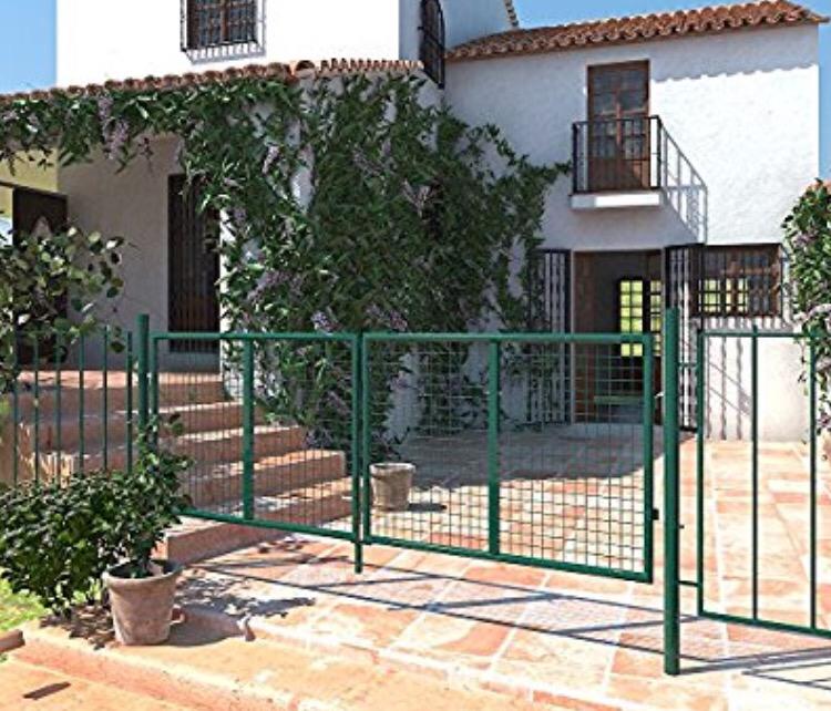 Puerta jardín verde!!envios toda España