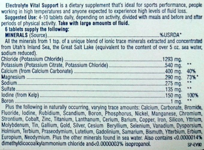 Electrolyte Vital Support