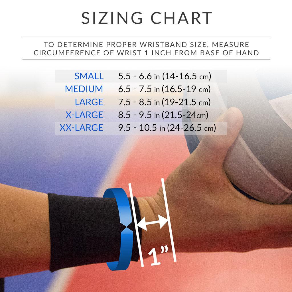 motusVB™ Wristband Sizing Chart
