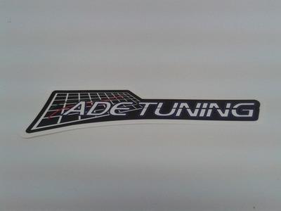 ADE Tuning Sticker Black