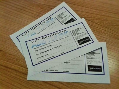 Rolling Road Gift Vouchers