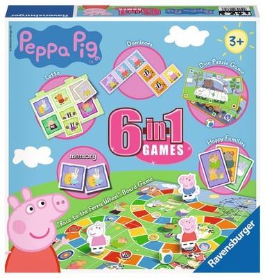 Peppa Pig 6 In 1 Games Box