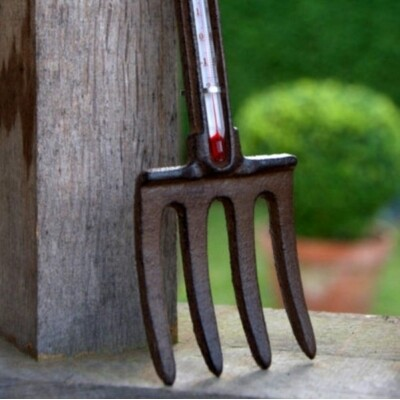 Thermometer - Fork - Cast Iron