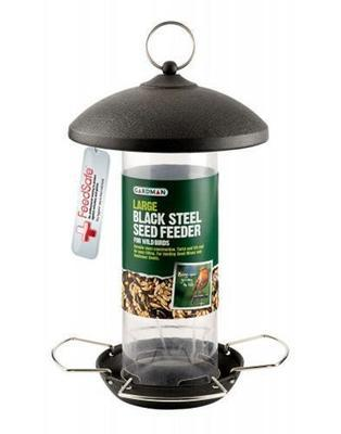 Large Black Steel Seed Feeder A01513
