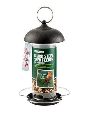 Black Steel Seed Feeder A01172