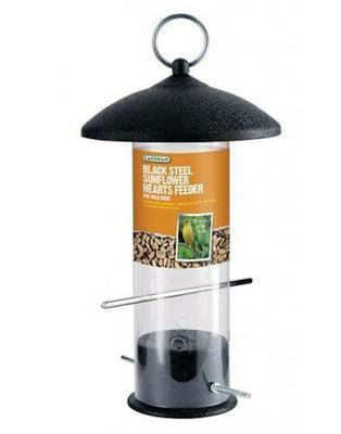 Large Black Steel Sunflower Heart Feeder A01524