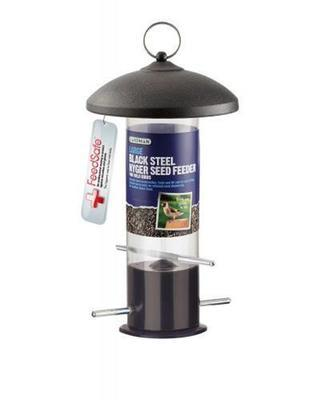 Large Black Steel Nyger Seed Feeder A01516