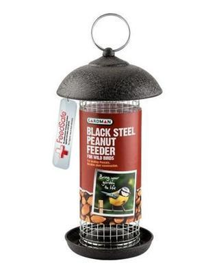Black Steel Peanut Feeder A01171