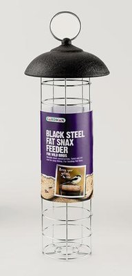 Black Steel Fat Snax Feeder