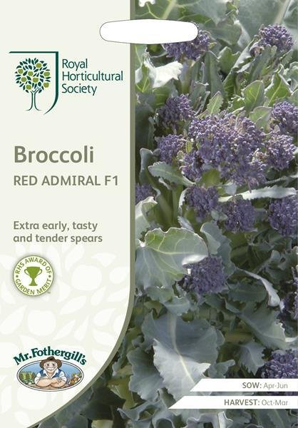RHS Broccoli (Sprouting) Red Admiral F1