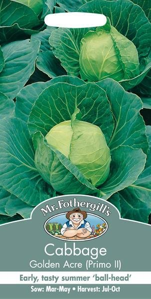 Cabbage Golden Acre / Primo II Seeds