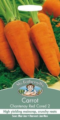 Carrot Chanteney Red Cored 2 Seeds