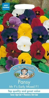 Pansy Mr F's Early Mixed F1 Seeds