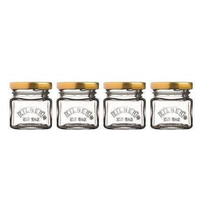 KILNER SET OF 4 MINI JARS 55ML