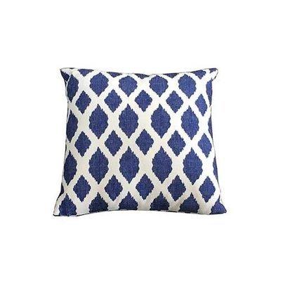 Blue Trellis Square Scatter Cushion