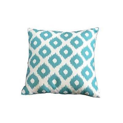 Green Lattice Square Scatter Cushion