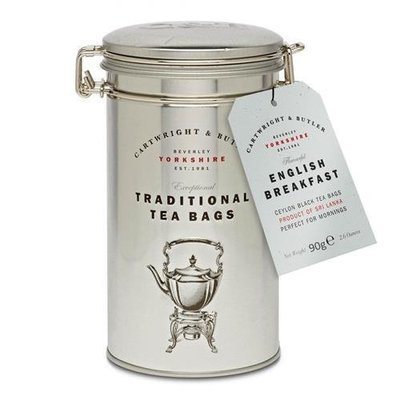 C and B English Breakfast Tea Bags in Caddy