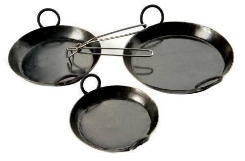 Set Of 3 Kadai Skillets Plus Handle