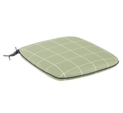 Caredo Chair Seat Pad - Sage Check