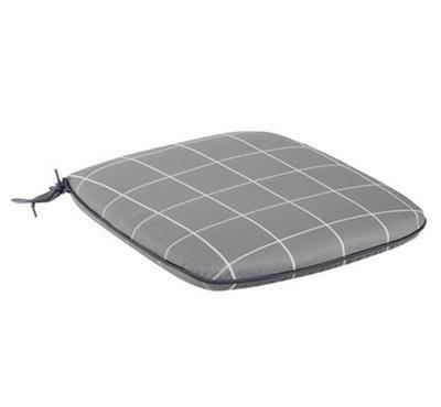 Caredo Chair Seat Pad - Slate Check