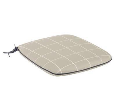 Caredo Chair Seat Pad - Stone Check