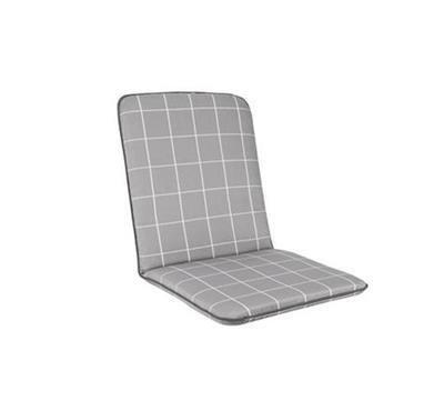 Savita Chair Cushion - Slate Check