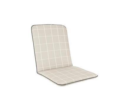 Savita Chair Cushion - Stone Check