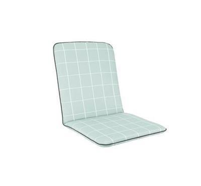 Siena Chair Cushion - Aqua Check