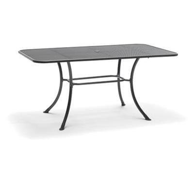 Rectangular 160x90cm Mesh Table with parasol hole