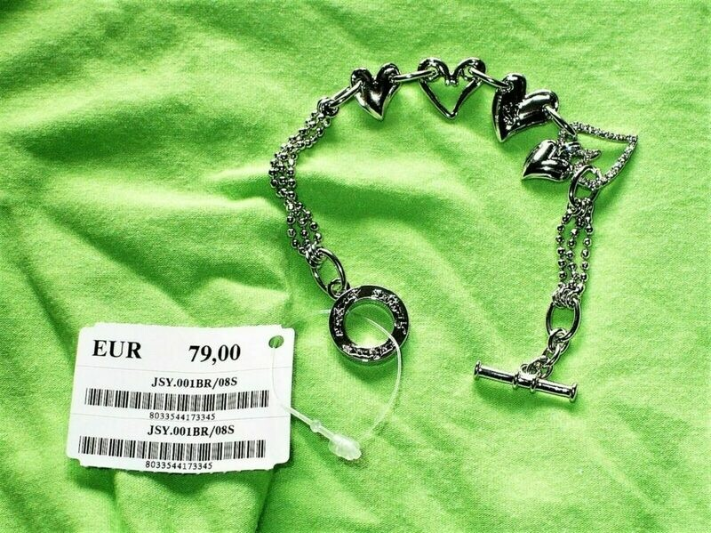 BRACCIALE DONNA SWEET YEARS ACCIAIO-CHARMS CUORICINI