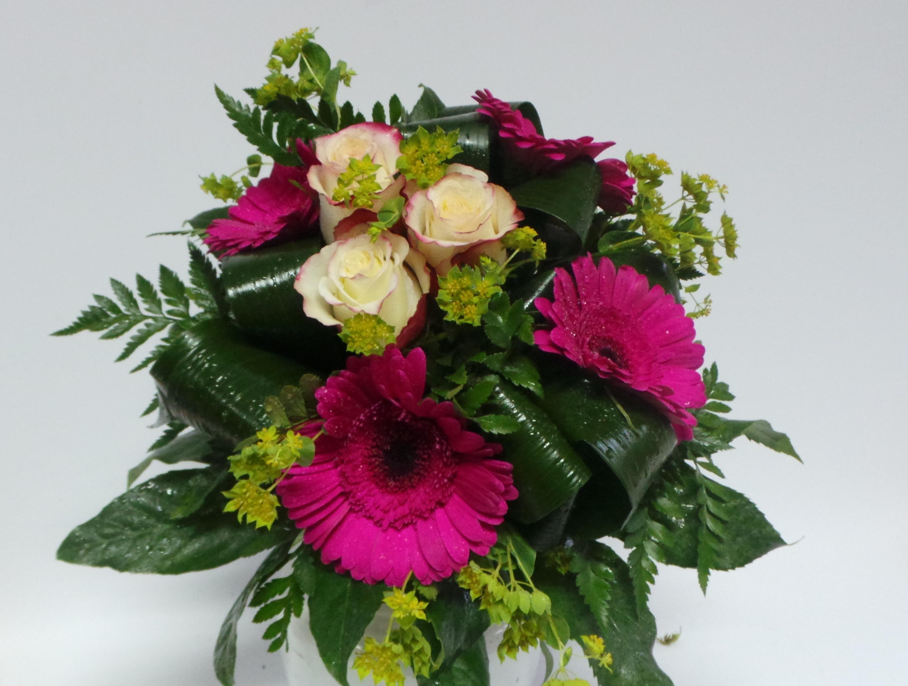 Bouquet Flores Gerberas Roxas 00079