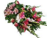 Ramo de Funeral Rosa 00053