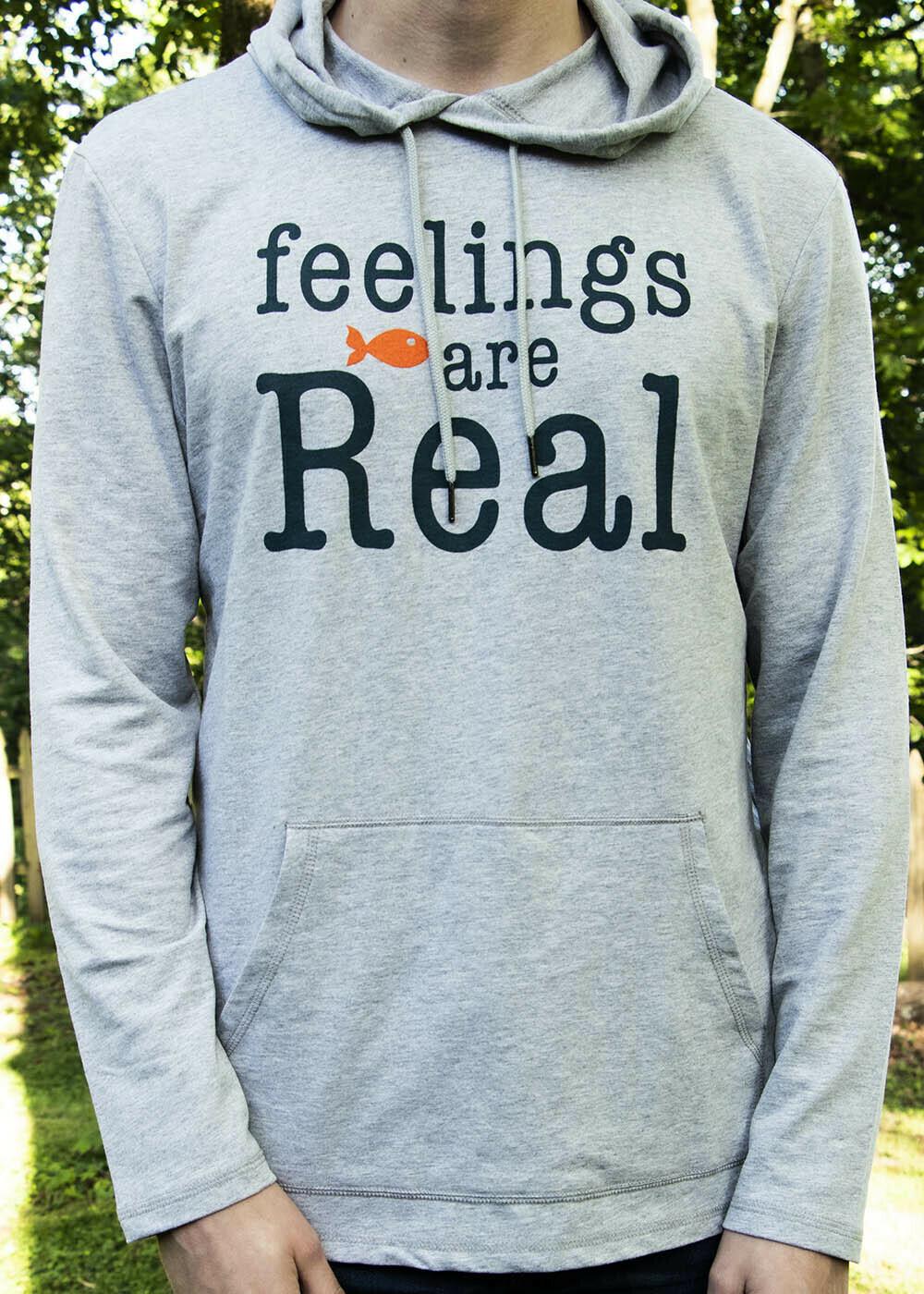 feelings are Real / lightweight hoodie