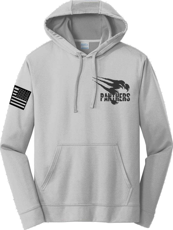 Silver Poly Fleece Crew Hooded Sweatshirt PPSLVHDY