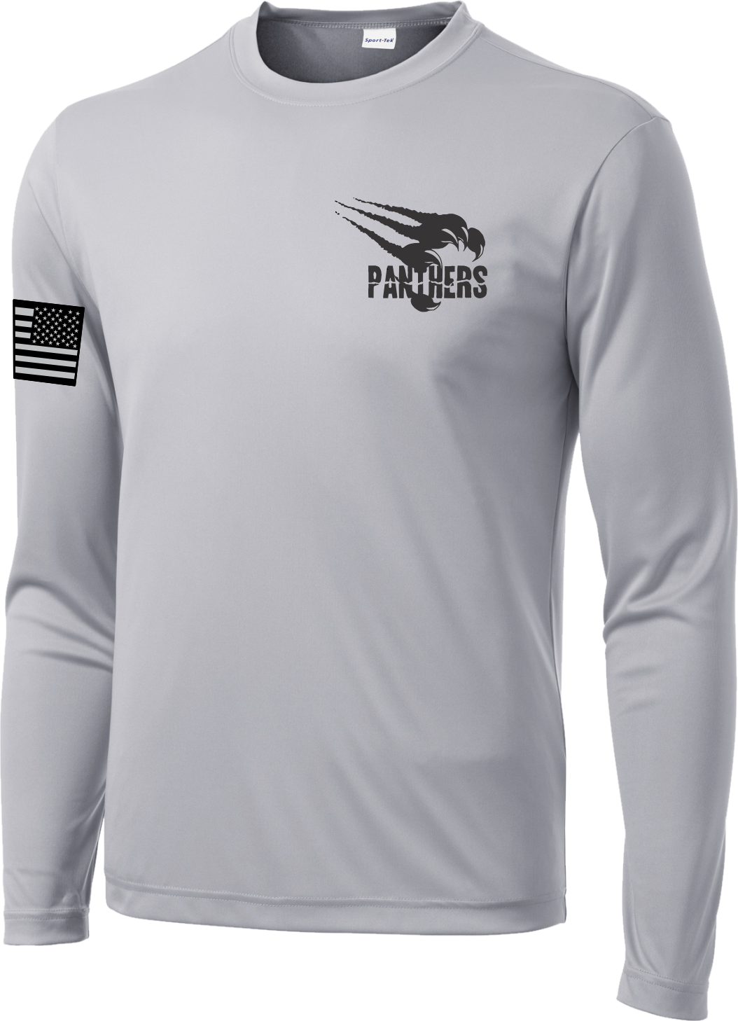 Silver Dry Wicking Poly Long Sleeve Tee PPLST03