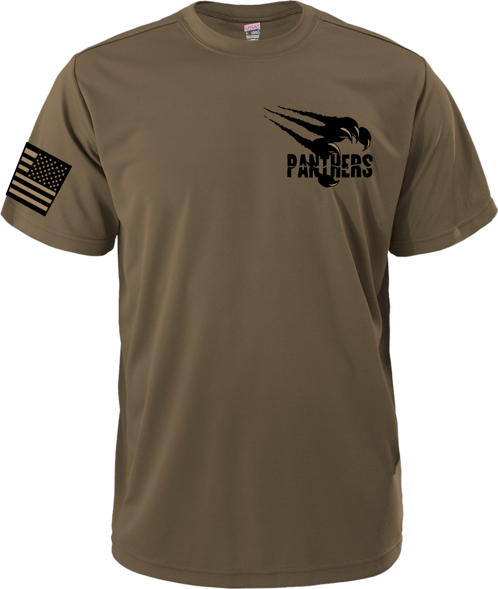 Coyote Brown Dry Wicking Poly Tee PPCBT