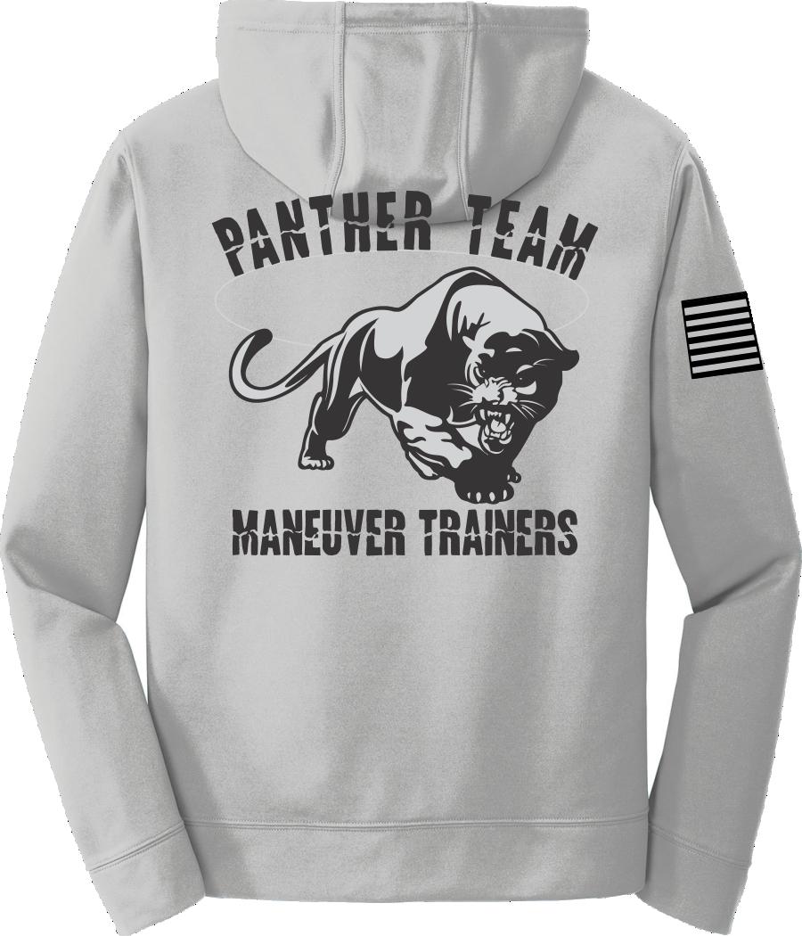 Silver Poly Fleece Crew Hooded Sweatshirt