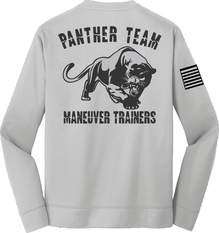 Silver Poly Fleece Crew Sweatshirt