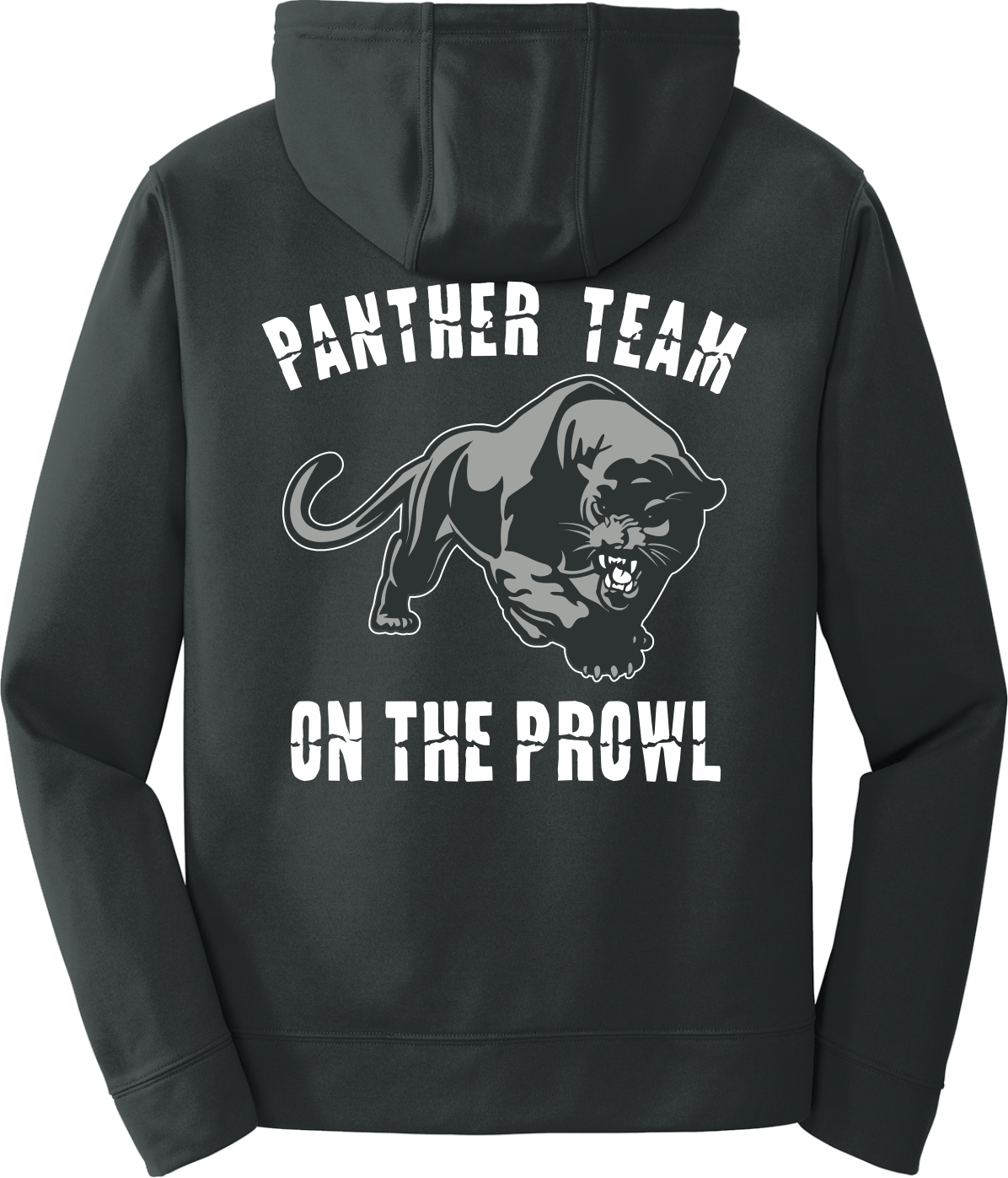 Black Poly Fleece Crew Hooded Sweatshirt PPBLKHDY