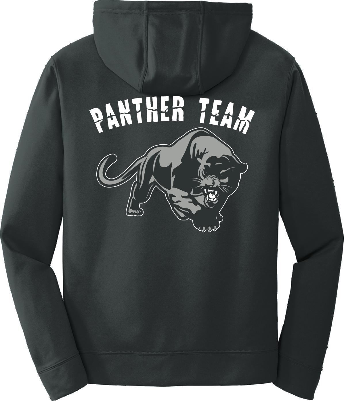 Black Poly Fleece Crew Hooded Sweatshirt-NO PROWL PPBLKHDYNOPR