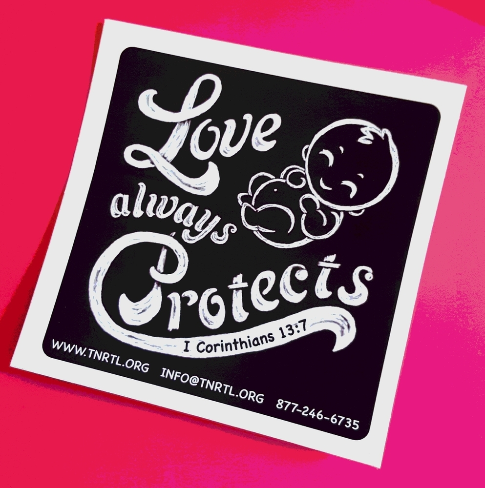 Love Always Protects Bumper Sticker
